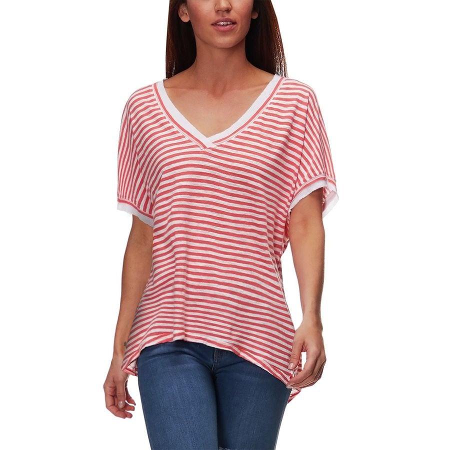 Free People - Take Me Short-Sleeve Striped T-Shirt - Women s - Orange 1e6b8494f