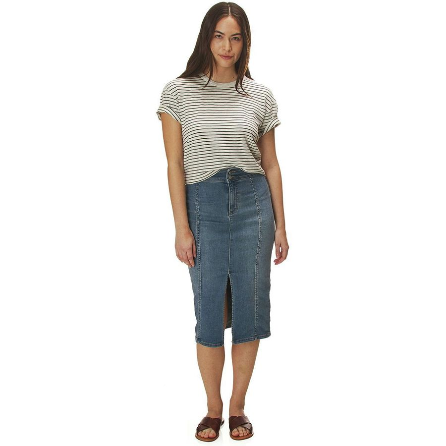 4f66ffd081f1 Free People Maddie Denim Midi Skirt - Women's | Backcountry.com