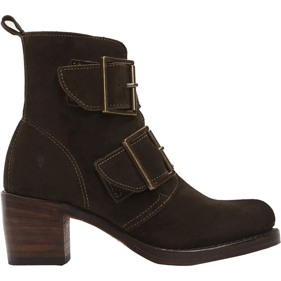Women's Sabrina Double Buckle Suede Boot