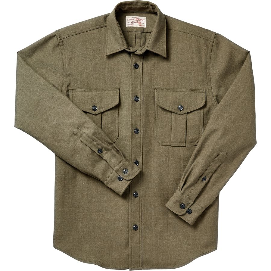 Find wool shirts for men that a made in the USA for casual and outdoor wear.