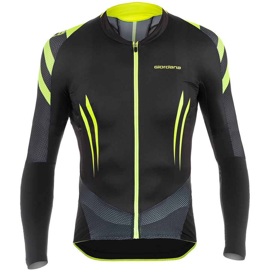 62d39ad6d Giordana - EXO System Jersey - Long-Sleeve - Men s - Black Yellow Fluo