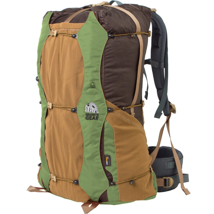 granite apparel About granite gear lutsen 55l backpack - internal frame closeoutsgranite gear's lutsen 55l backpack is the king of customization: the re-fit system lets you adjust torso length and hip width for maximum comfort that's tailored to the specifics of your body.