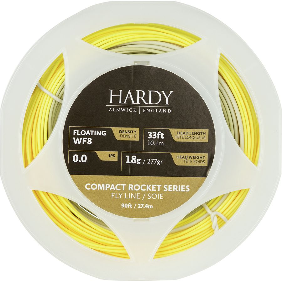 Hardy Compact Rocket Series Float Yellow//Willow Flyline