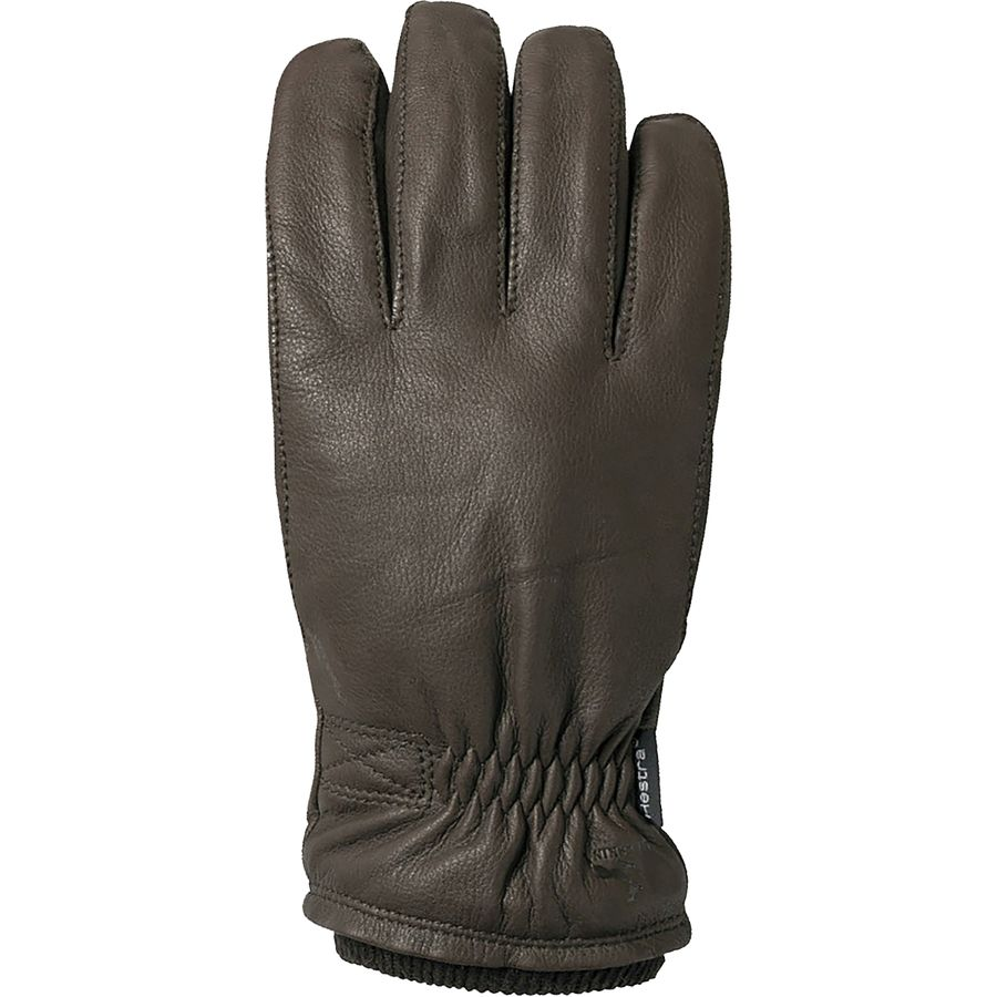 Hestra mens gloves - Hestra Deerskin Swisswool Rib Cuff Glove Men S Dark Brown