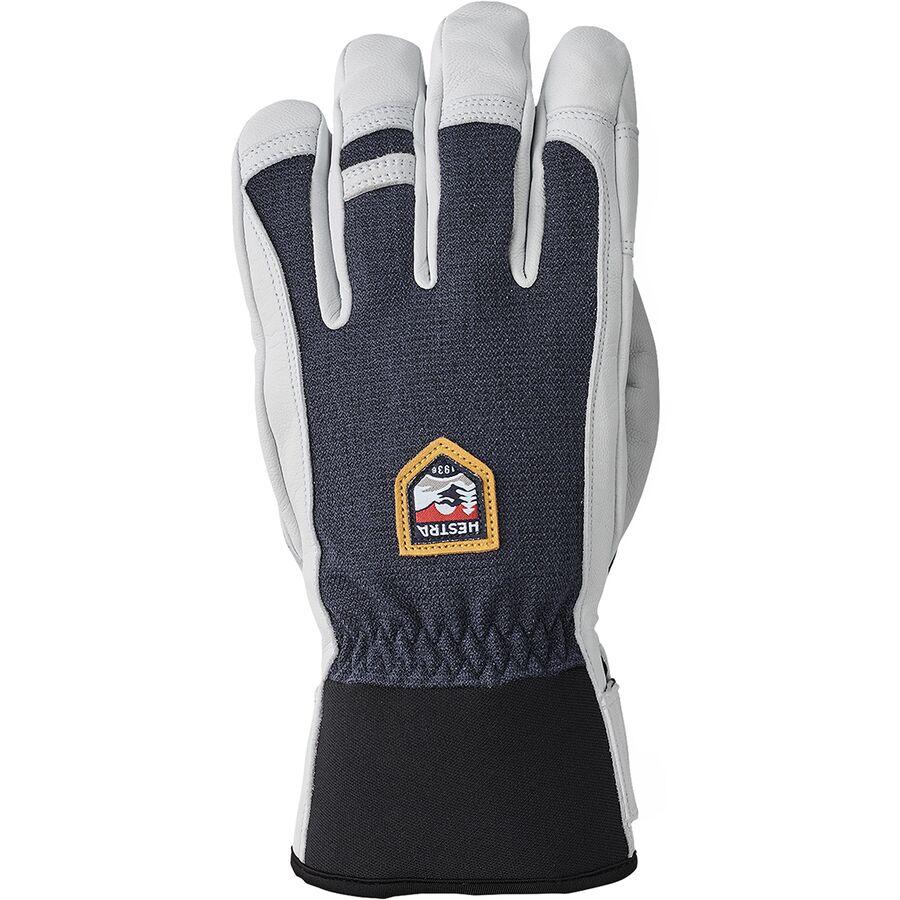 Hestra Army Leather Patrol Gauntlet MITT 3 Finger Navy