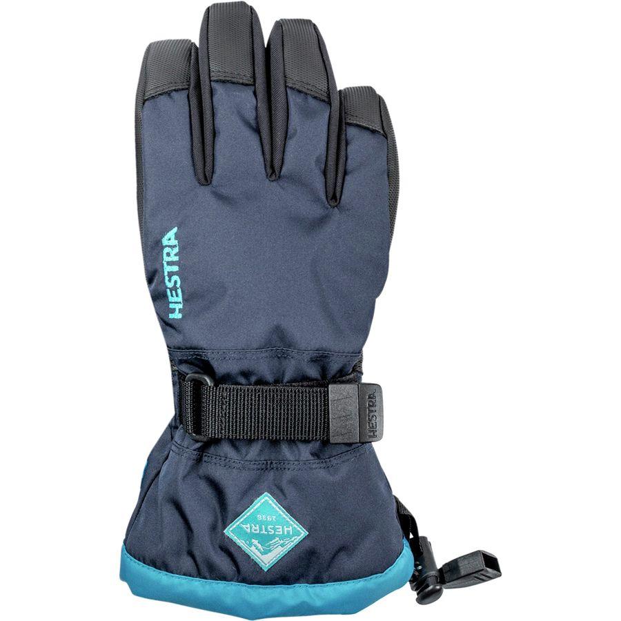 Hestra Gauntlet Czone Junior Glove Kids Dark Navy Turquoise