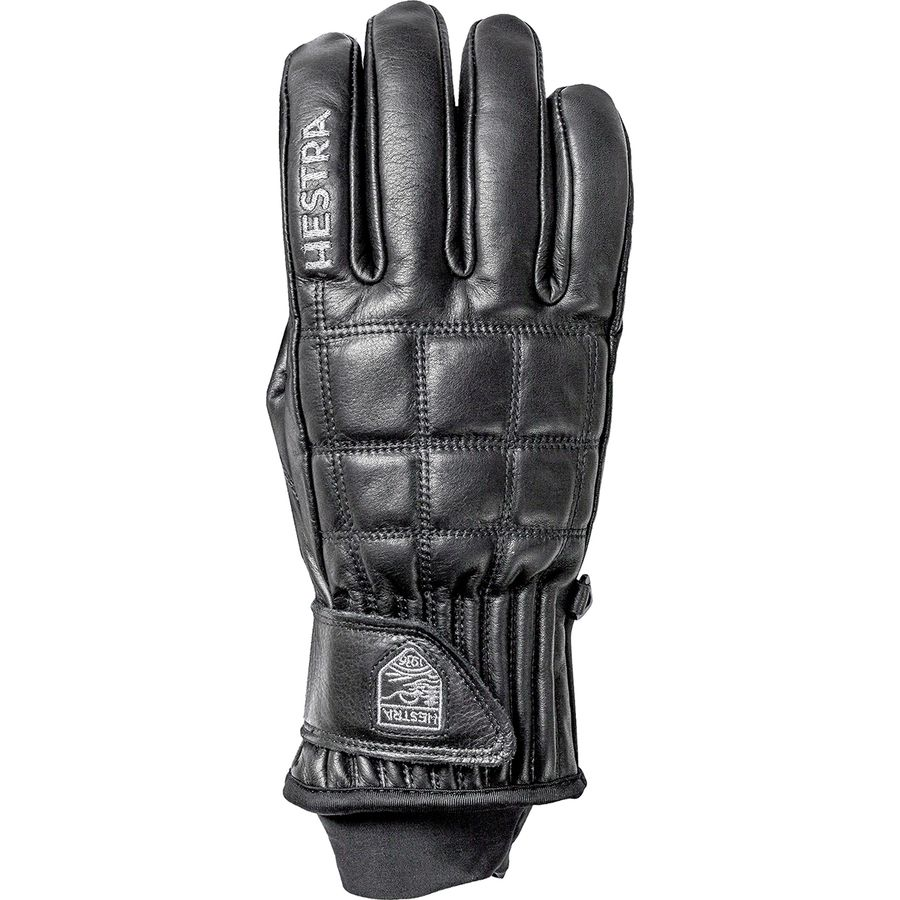 Hestra mens gloves - Hestra Henrik Leather Pro Model Glove Black