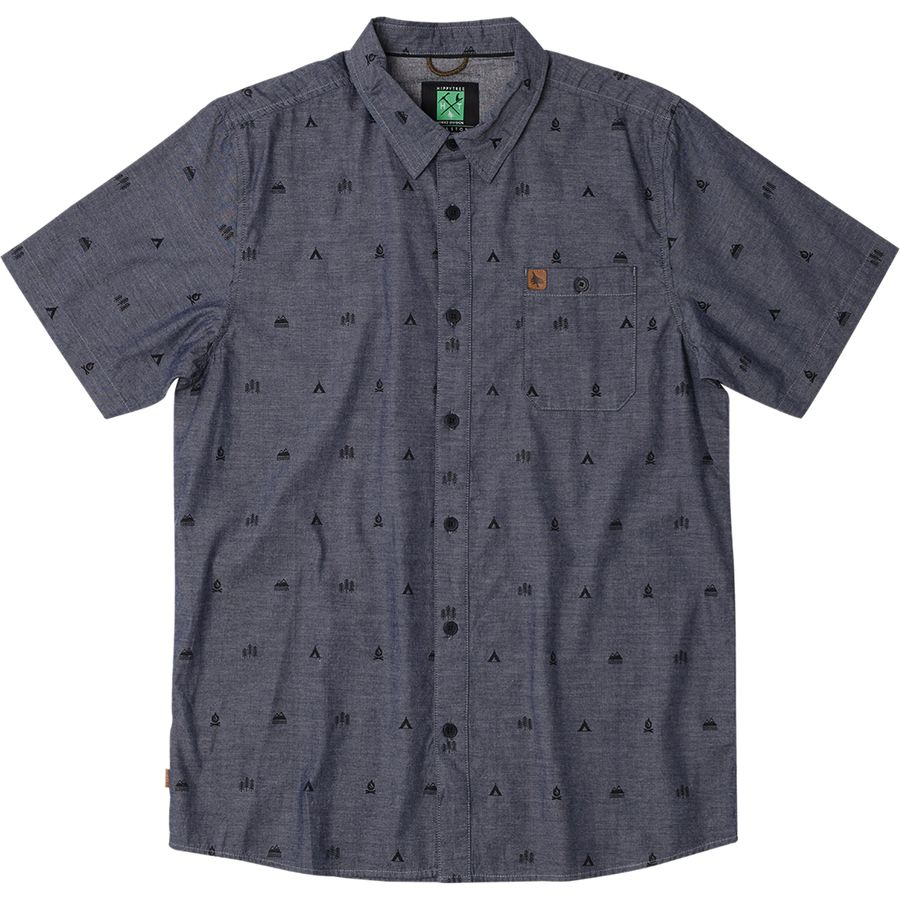 Hippy Tree Symbol Woven Shirt - Mens