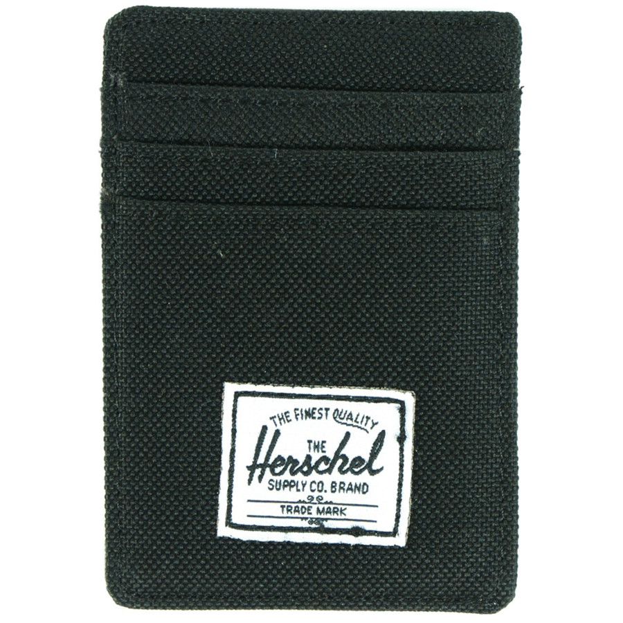 Herschel Supply Raven Card Holder Wallet - Mens