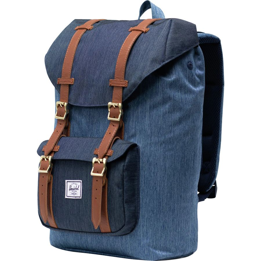 ac8be11c7 Herschel Supply - Little America Mid-Volume 17L Backpack - Faded  Denim/Indigo Denim