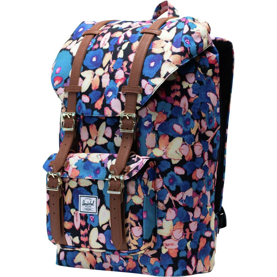 Herschel Supply - Little America Mid-Volume 17L Backpack - Painted Floral  Tan 3b72340c2fc80