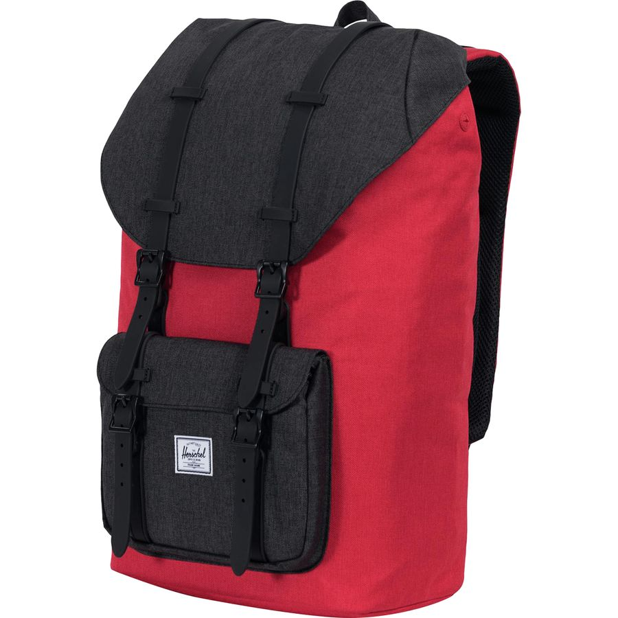 dcb96c8f3e7 Herschel Supply - Little America 25L Backpack - Barbados Cherry Crosshatch Black  Crosshatch