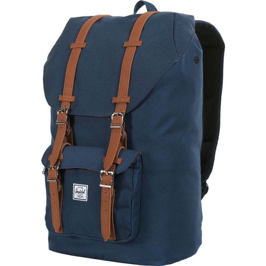 0a08ce37b3c Herschel Supply - Little America 25L Backpack - Navy Tan Synthetic Leather