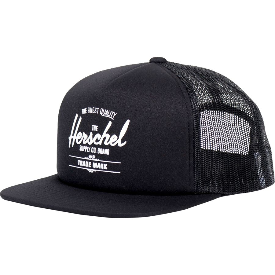 Herschel Supply - Whaler Mesh Trucker Hat - Black 1b9bae7f1e2