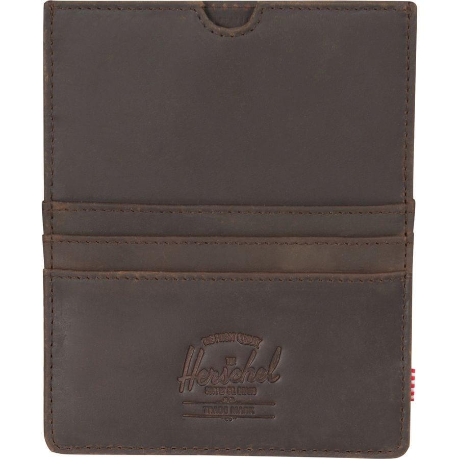 Herschel Supply Eugene Leather Passport Wallet