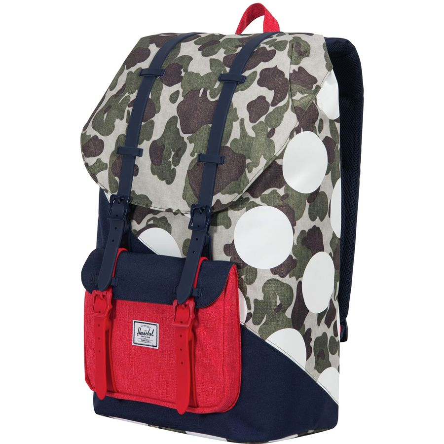aef059ed31 Herschel Supply - Little America 25L Backpack - Kaleidoscope Collection -  Frog Camo Barbados Cherry