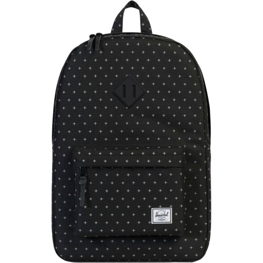 Herschel Supply - Heritage Mid-Volume 14.5L Backpack - Black Gridlock b542b122bdbb4