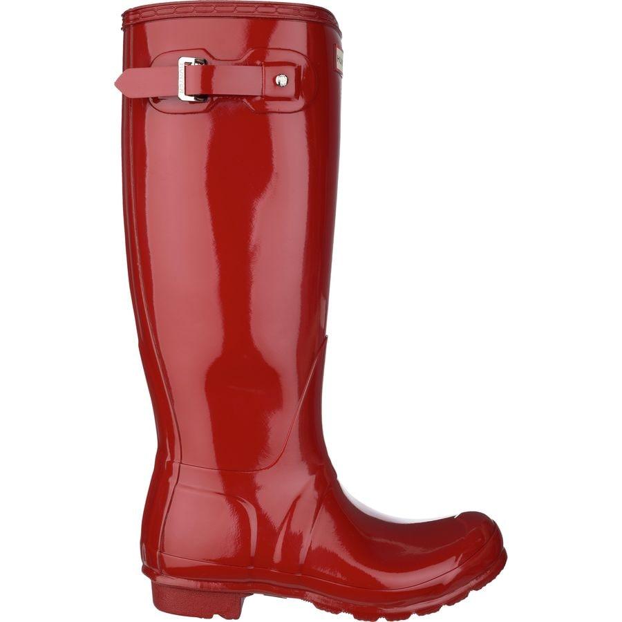 Hunter - Original Tall Gloss Rain Boot - Women's - Military Red