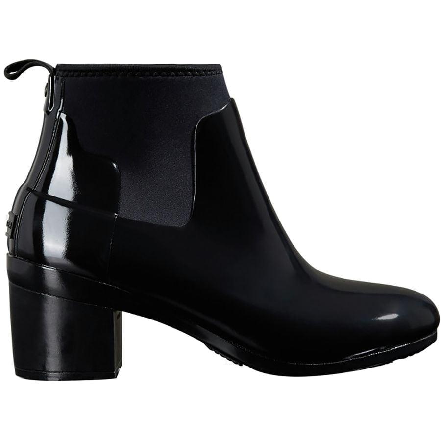 1ef17416ffa1 Hunter - Refined Mid Heel Gloss Rain Boot - Women s - Black