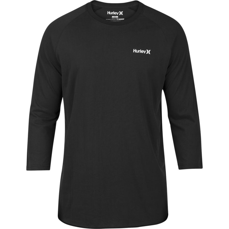 Hurley one only dri fit raglan 3 4 sleeve t shirt men for Dri fit t shirts manufacturer