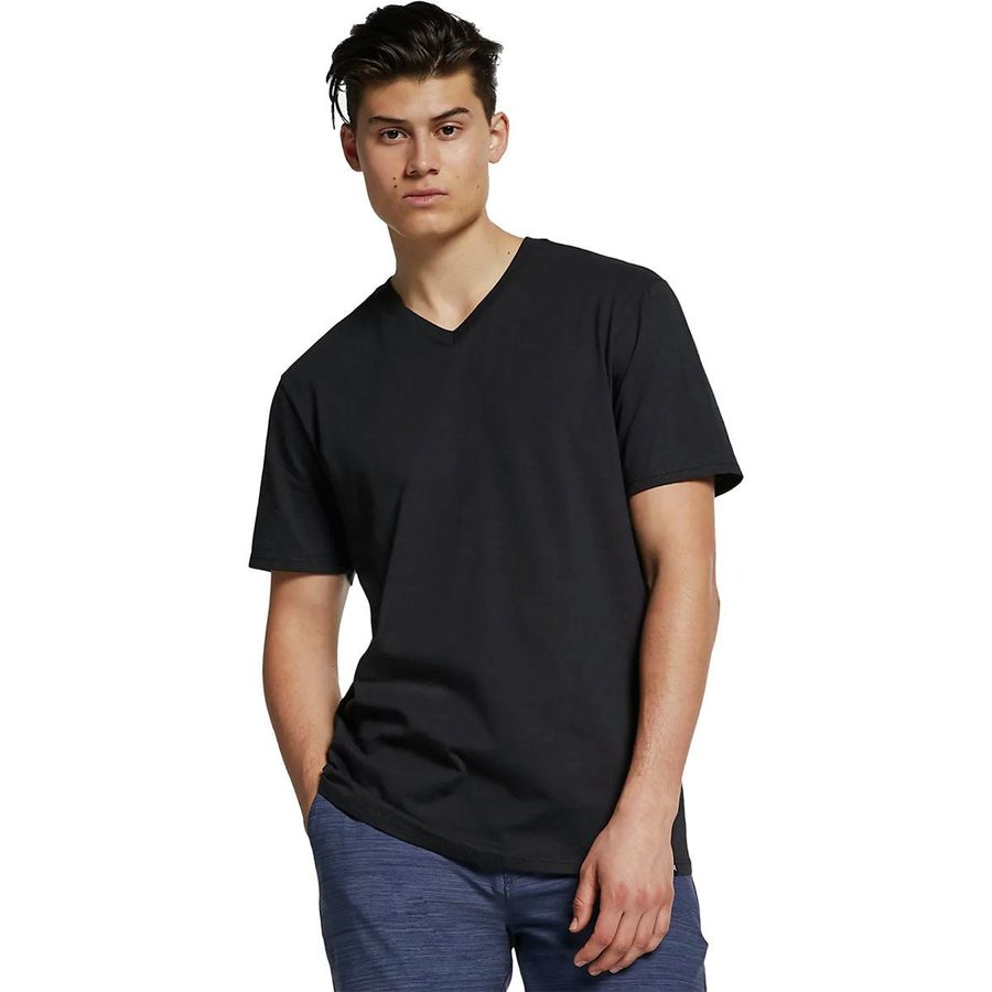 Hurley Staple V-Neck Men's T-Shirts Black