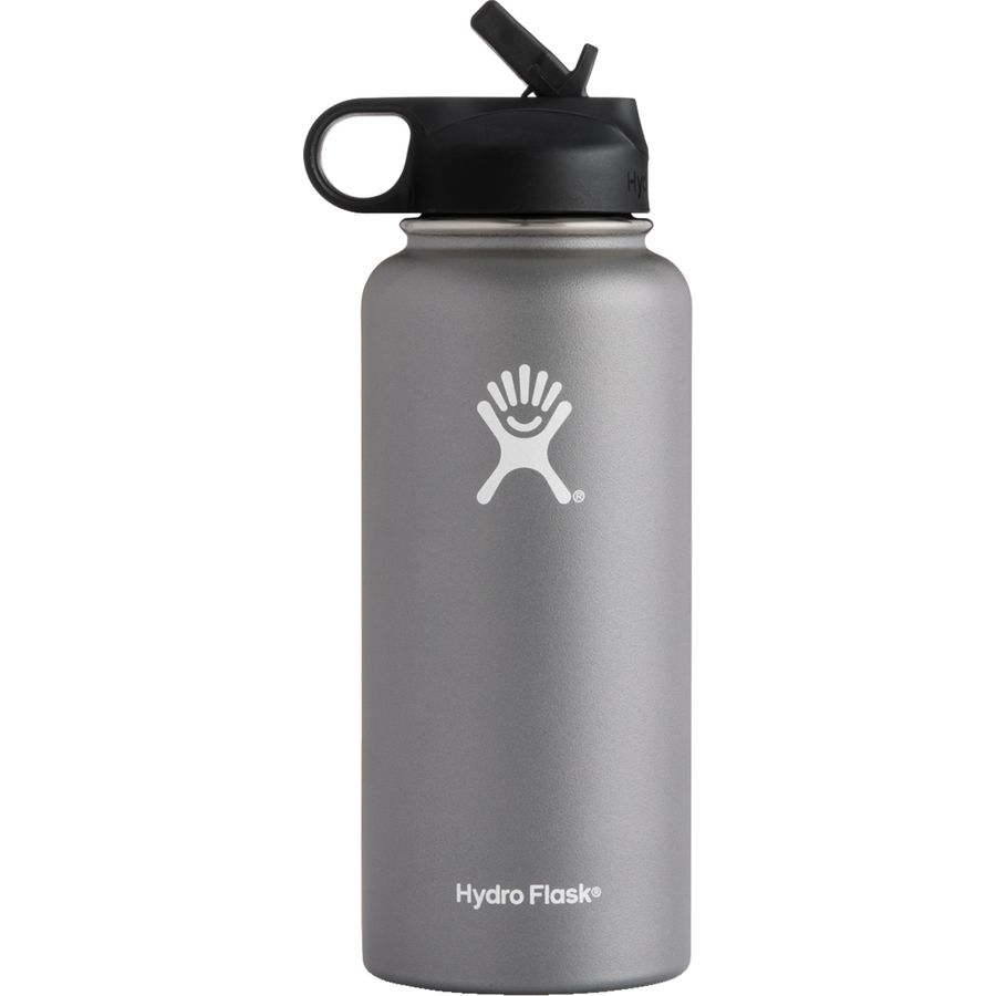 Hydro Flask - 32oz Wide Mouth Water Bottle with Flex Straw Lid - Graphite 80b5db2c2