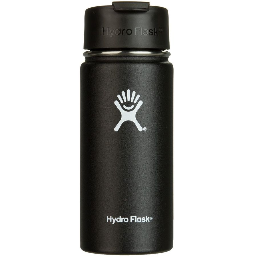 Hydro flask 16oz wide mouth water bottle black