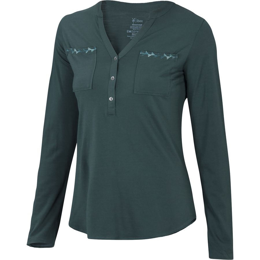 Ibex Shanti Henley Shirt - Long-Sleeve - Womens