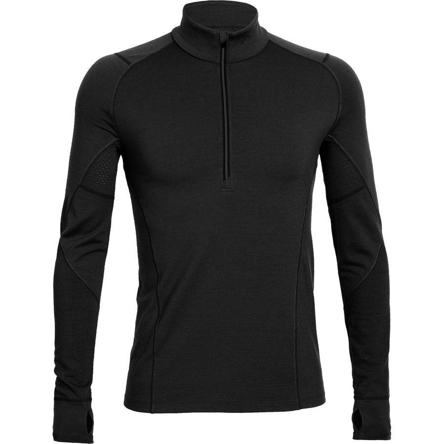 Icebreaker BodyFit 200 Zone Zip-Neck Top - Mens