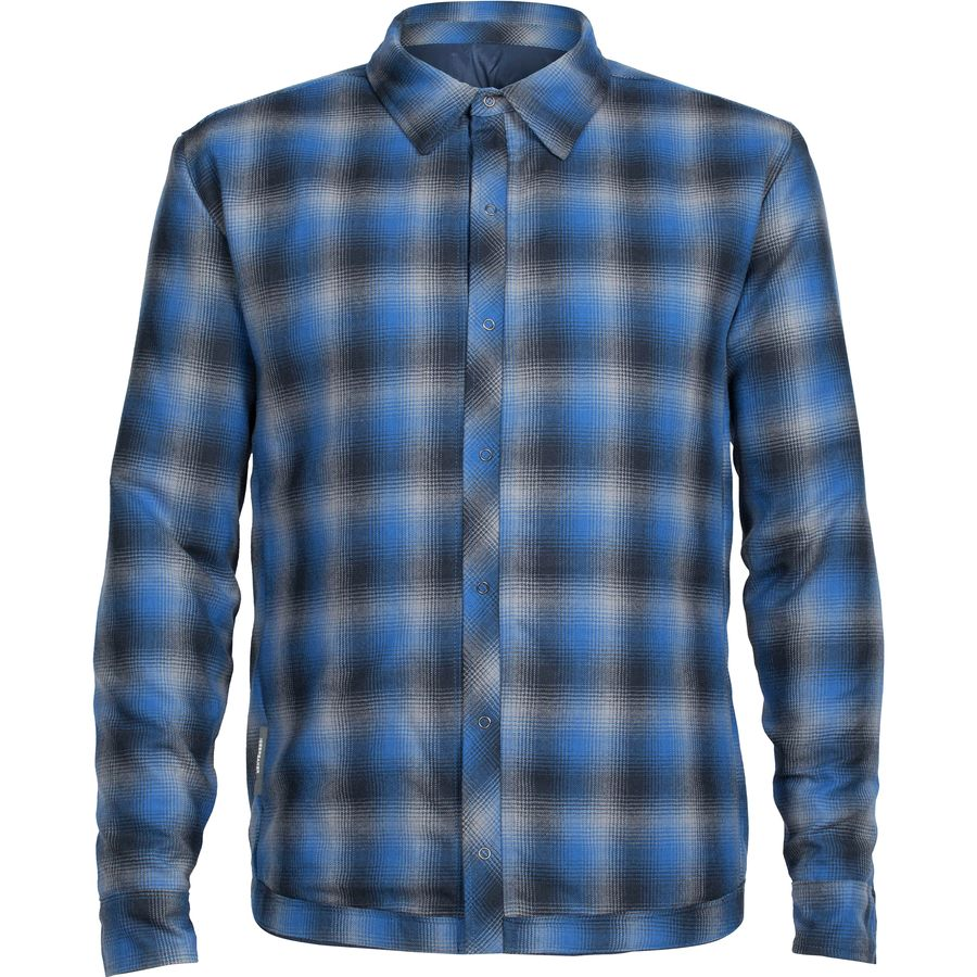 Icebreaker Helix MerinoLoft Flannel Shirt - Mens