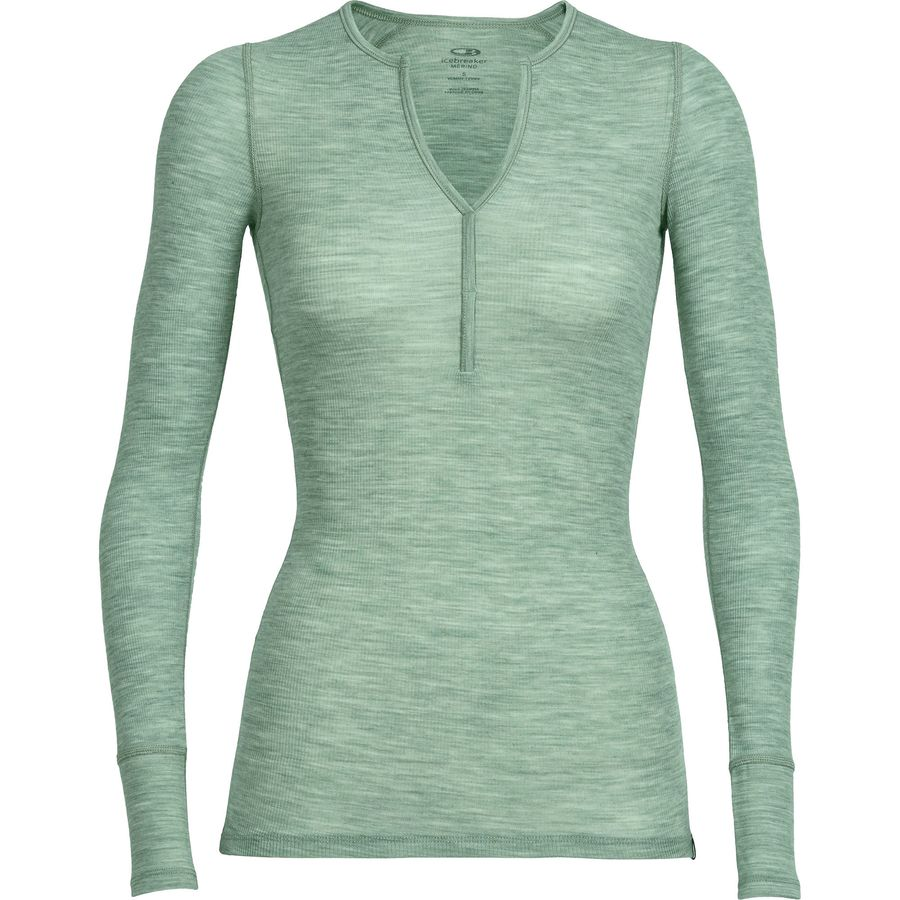 Icebreaker Butter Rib Henley - Long-Sleeve - Womens