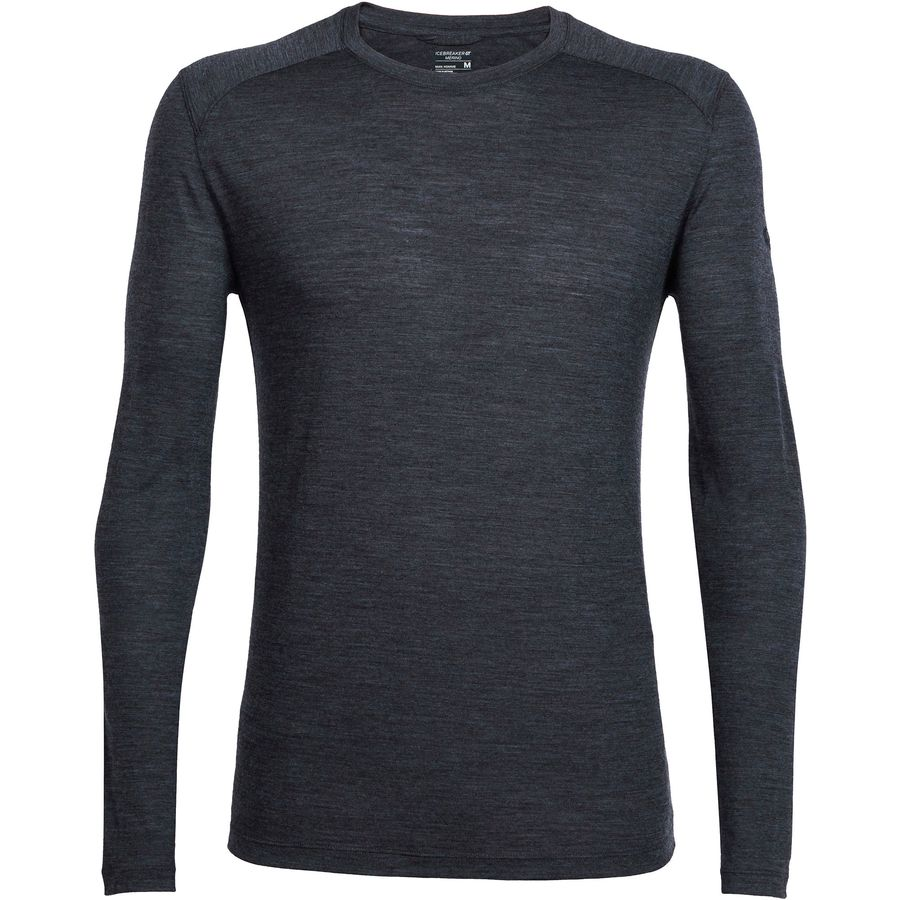 Icebreaker - Sphere Long-Sleeve Crewe Shirt - Men's - Black Heather