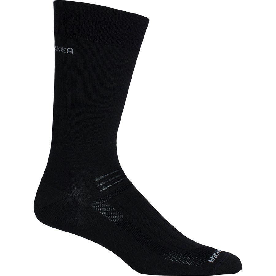 Icebreaker - Hike Liner Crew Sock - Men's - Black
