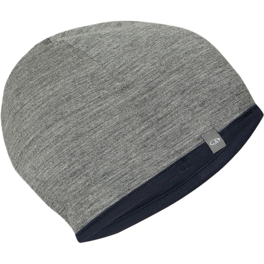 dd3986ac9b122 Icebreaker - Reversible Pocket 200 Beanie - Midnight Navy Gritstone Heather