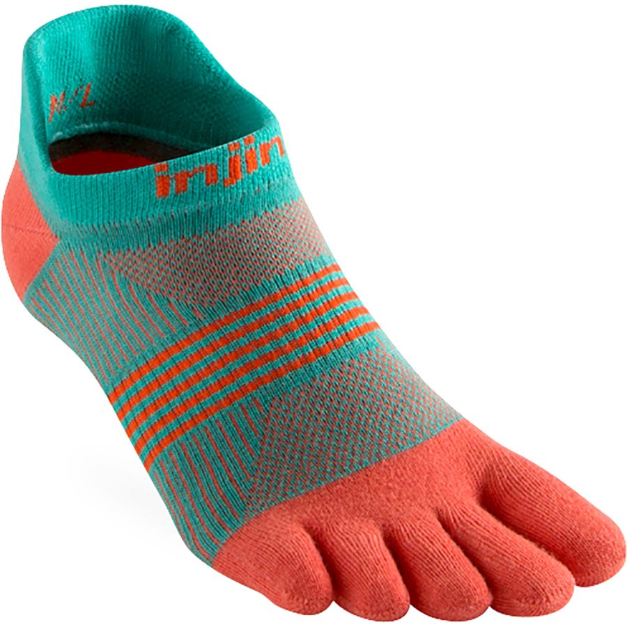 Injinji - Run Lightweight No-Show CoolMax Sock - Women s - Guava 29cf8b3821