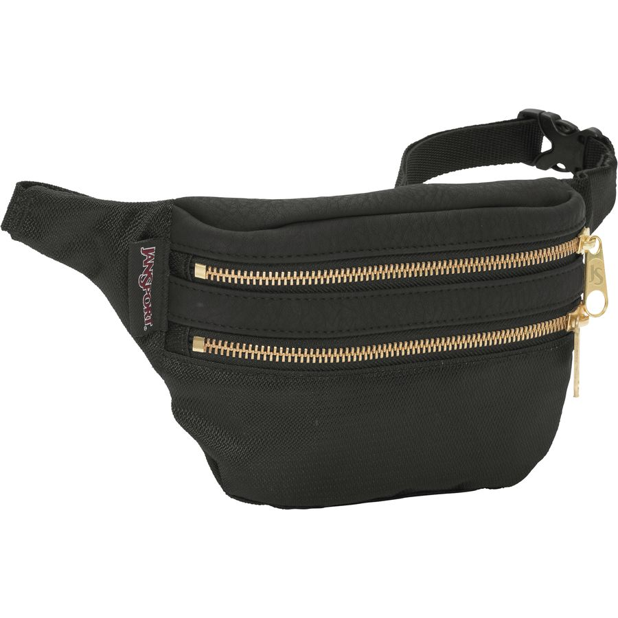 Jansport Hippyland Fanny Pack Waist Packs - Black/gold