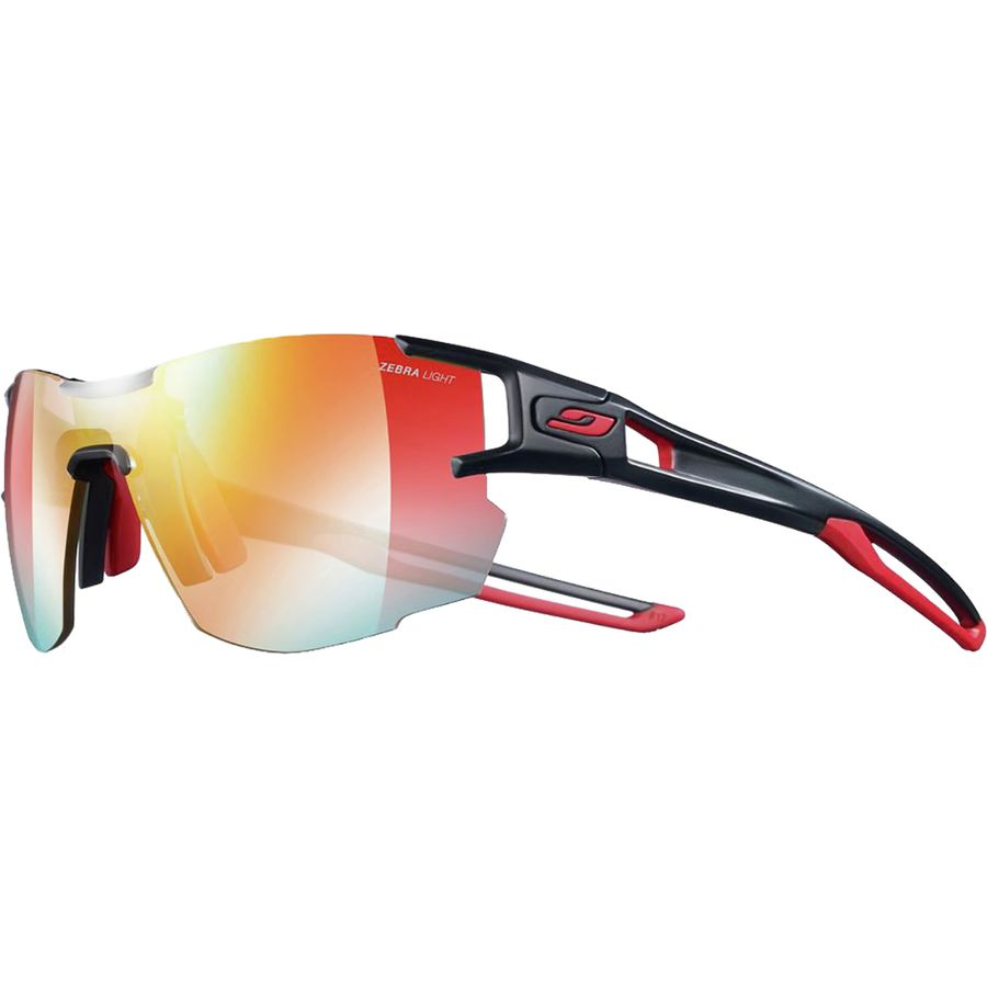 216bae171a Julbo - Aerolite Photochromic Zebra Sunglasses - Black Red Zebra Light