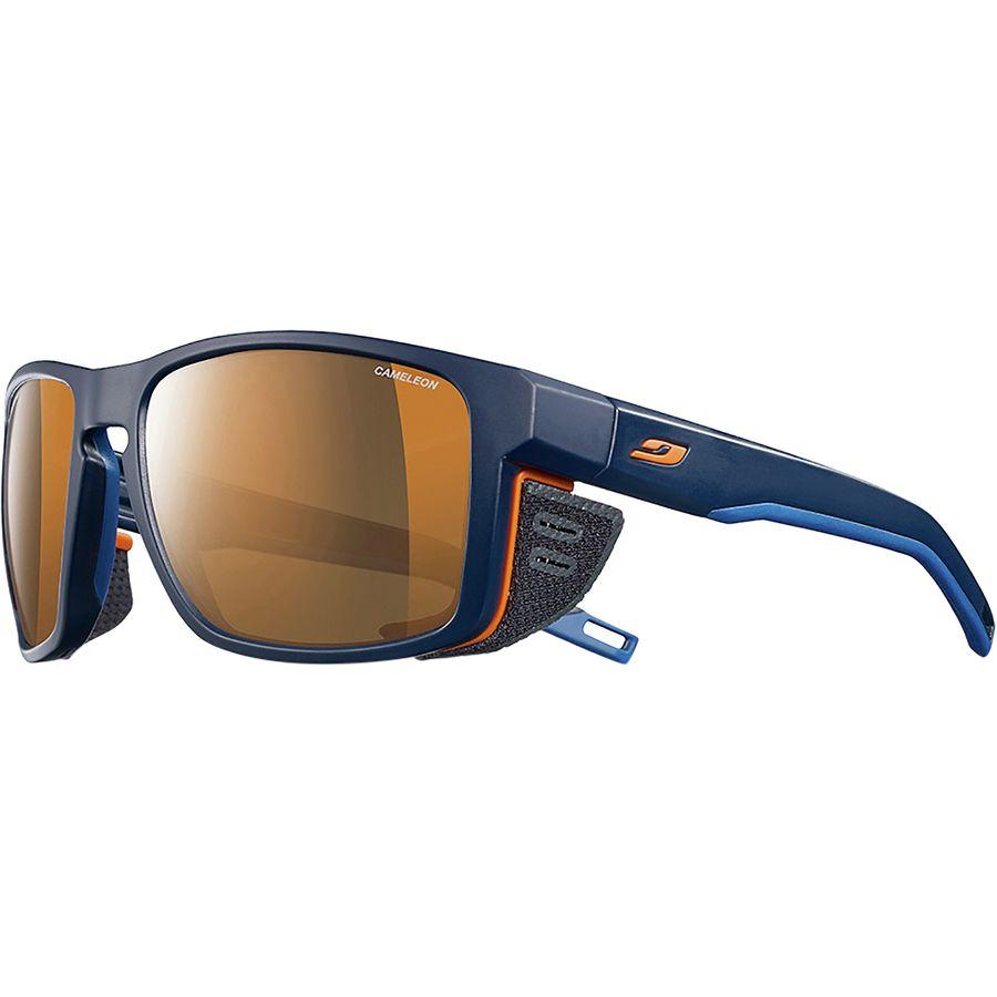 2aae3d22f8 Julbo - Shield Cameleon Photochromic Polarized Sunglasses -  Blue Blue Orange-Cameleon Brown
