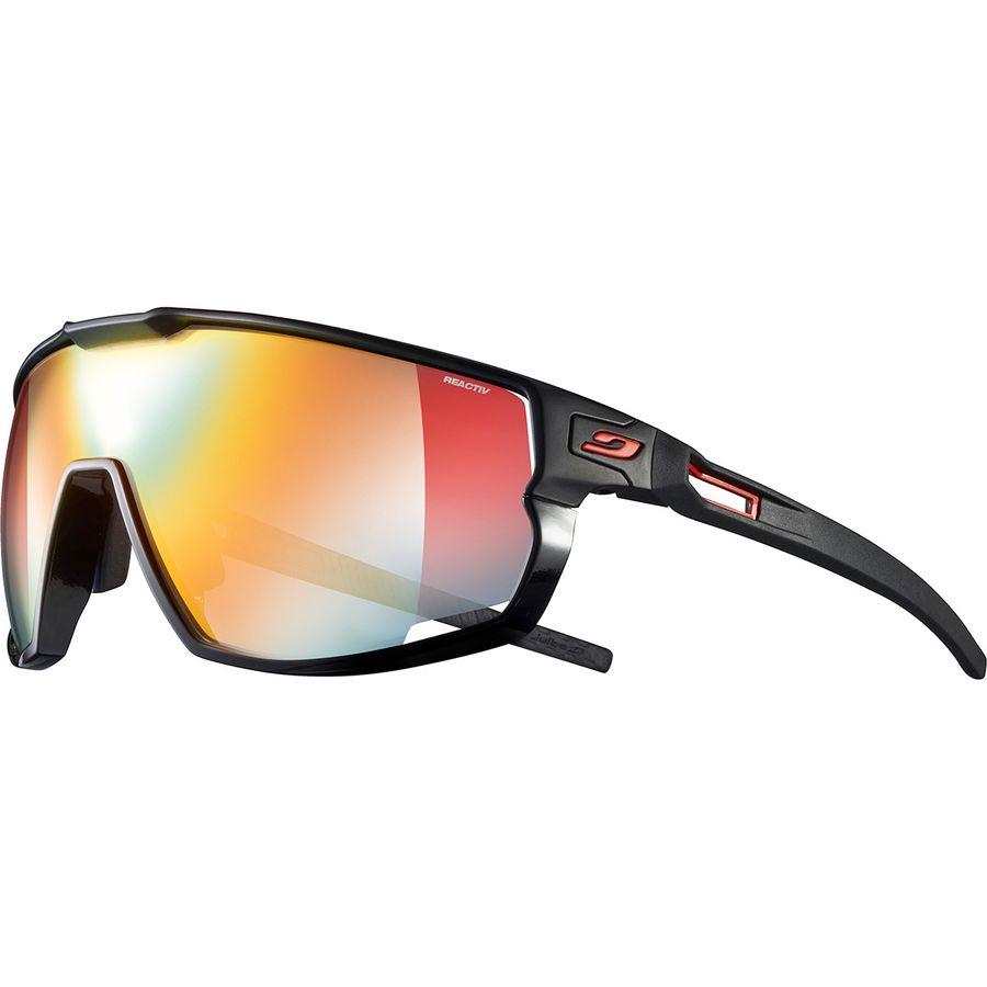 Julbo - Rush REACTIV Performance Photochromic Sunglasses - Black/Red