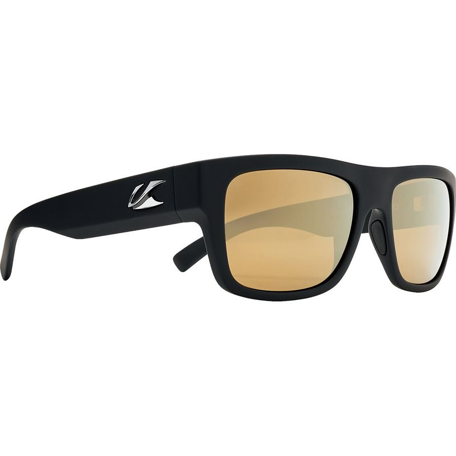 e535783c1d8af Kaenon - Montecito Polarized Sunglasses - Black Matte Grip Brown 12- Polarized Gold Mirror