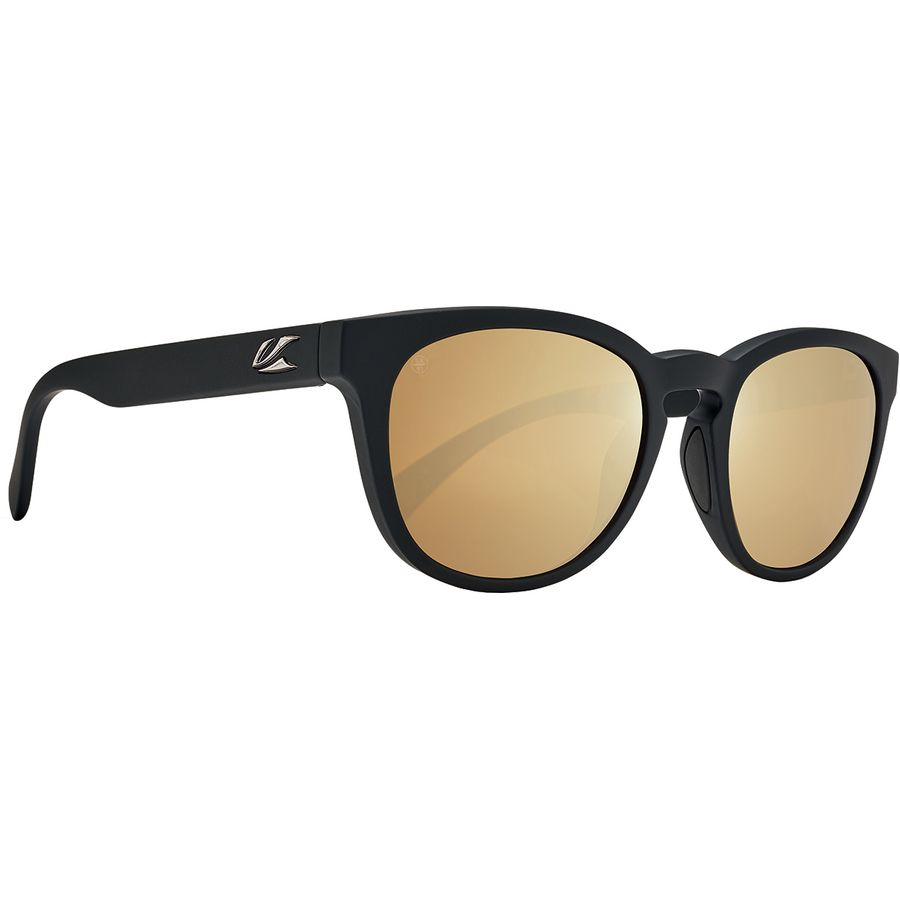 72ed4d0382edb Kaenon - Strand Polarized Sunglasses - Black Matte Grip Brown 12-Polarized  Gold Mirror