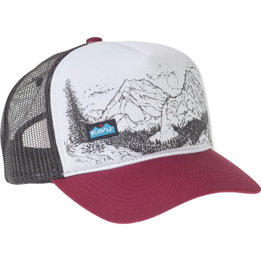 3ae9b9e1860c0 KAVU - Walcott Trucker Hat - Maroon