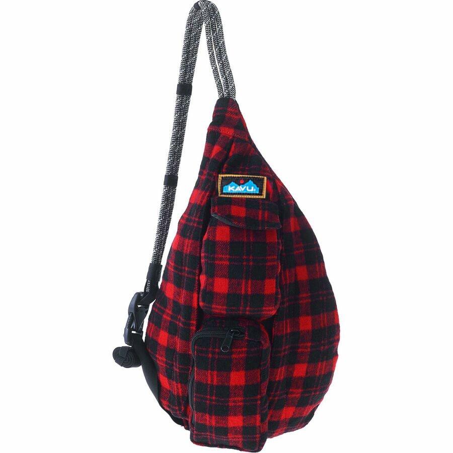 KAVU Mini Plaid Rope Bag