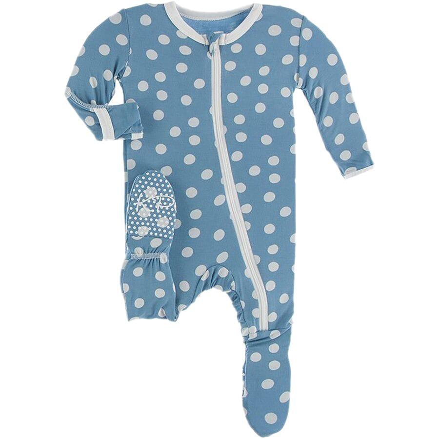 Kickee Pants Print Footie Pajamas - Infant Girls