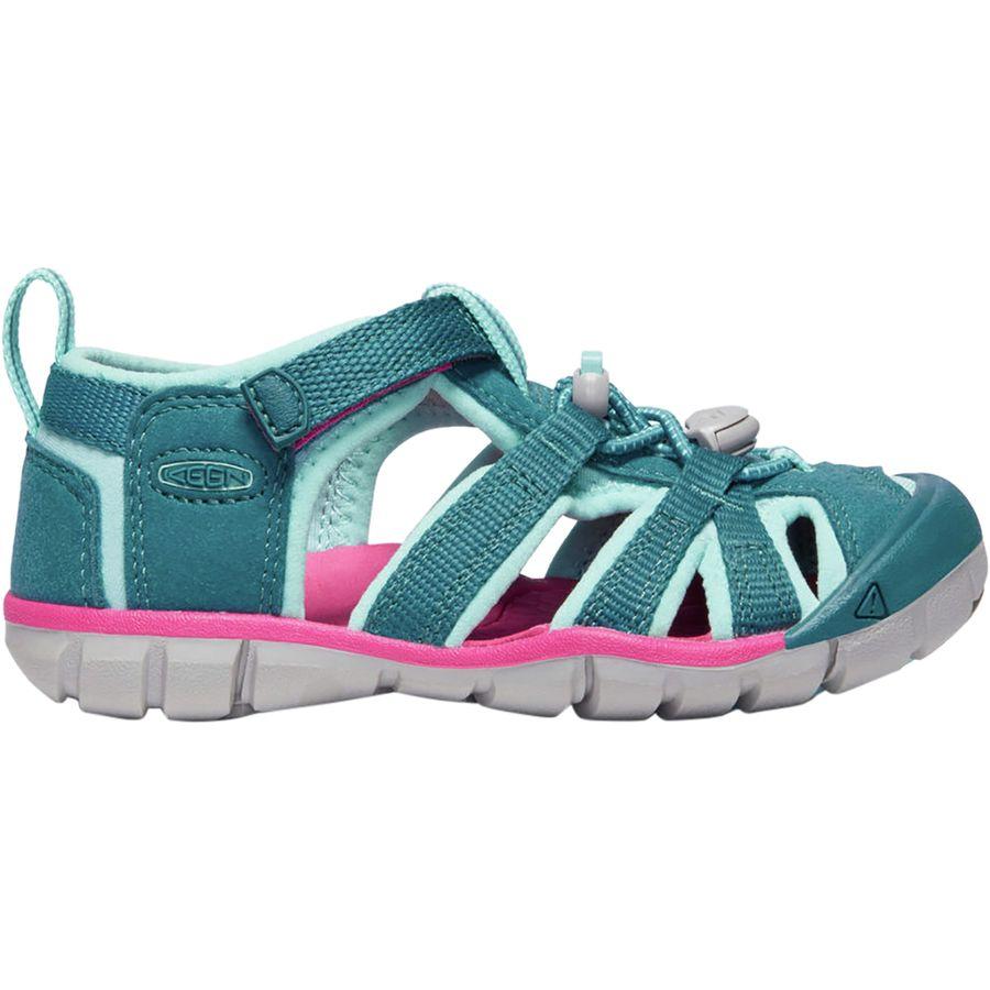 f6c0afd51899 KEEN - Seacamp II CNX Sandal - Little Girls  - Deep Lagoon Bright Pink