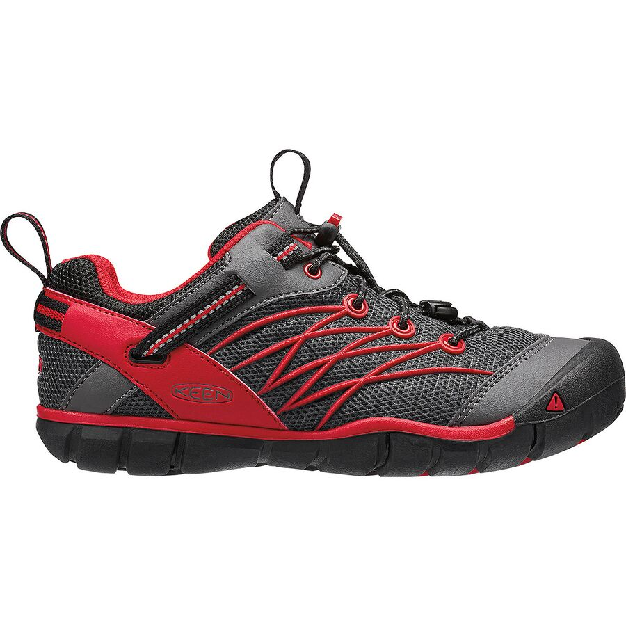 KEEN - Chandler CNX Hiking Shoe - Boys' - Magnet/Tango Red