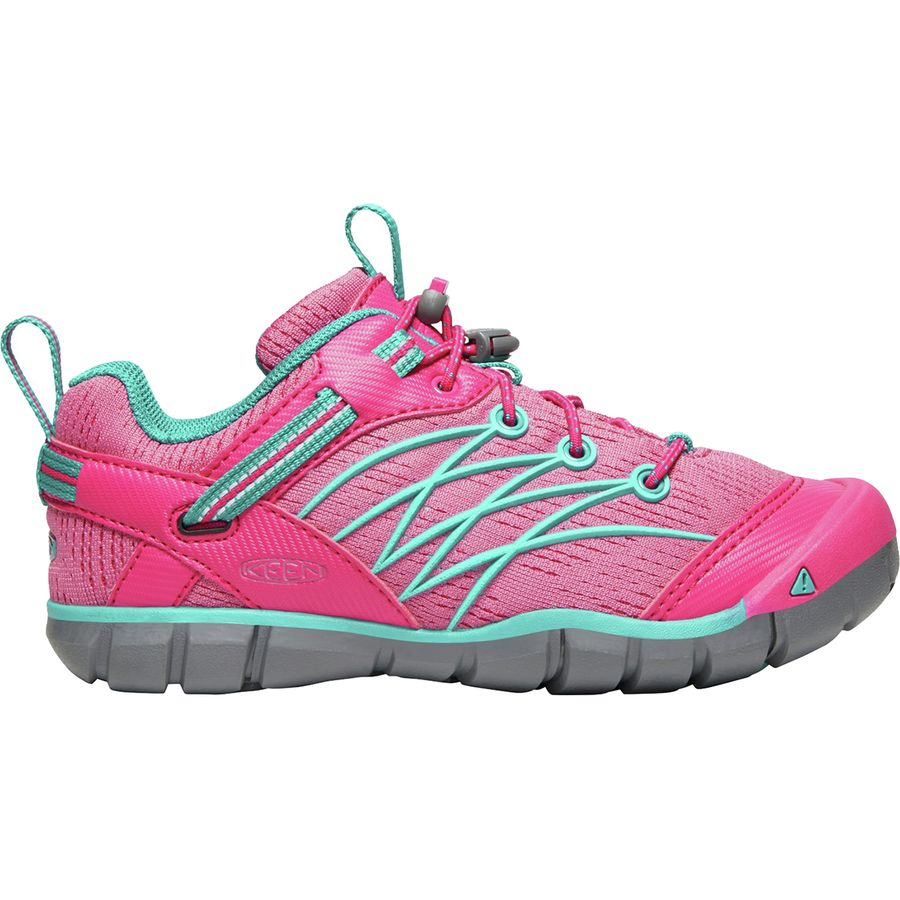 029cc3a9f54 KEEN - Chandler CNX Hiking Shoe - Girls' - Bright Pink/Lake Green
