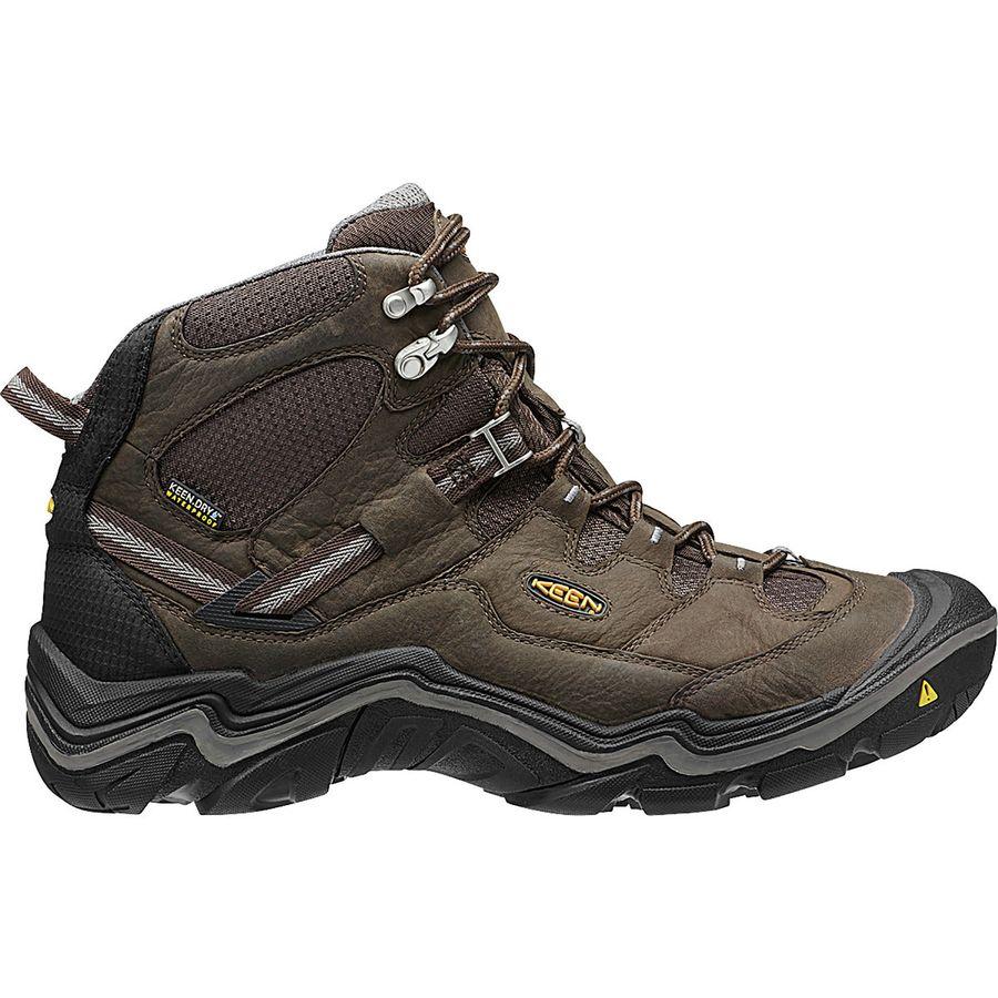 KEEN - Durand Mid WP Hiking Boot - Wide - Men's - Cascade Brown/Gargoyle