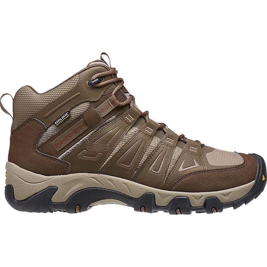 KEEN - Oakridge Mid Waterproof Hiking Boot - Men's - Cascade/Brindle