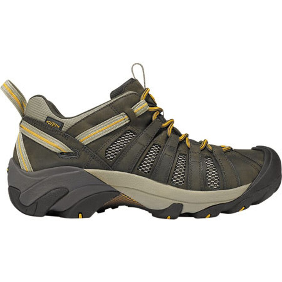 KEEN - Voyageur Hiking Shoe - Men's - Black Olive/Inca Gold